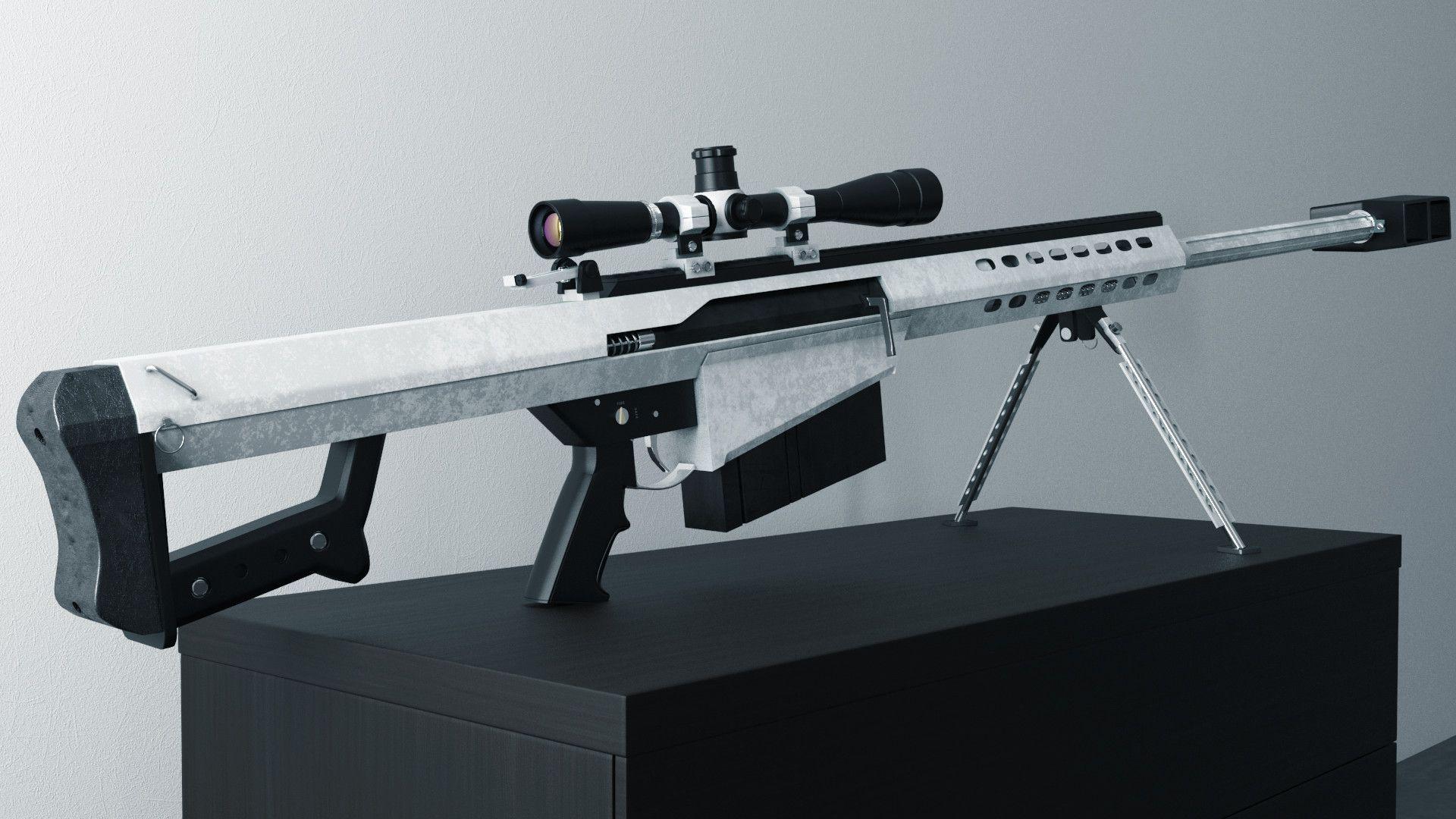 white barrett 50 cal | Guns | Guns, Weapons, Firearms