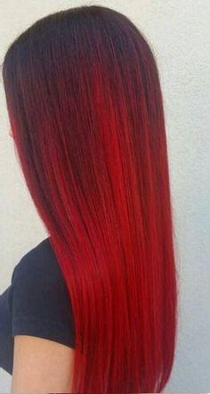 22 Rote Ombre Haarfarbe Ideen Haarfarbe Ideen Ombre Hair Haar