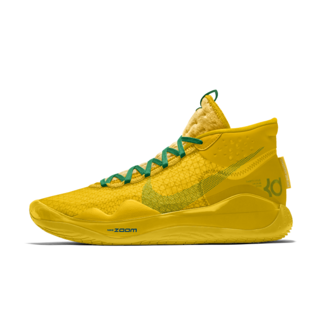 nike by you kd 12 Kevin Durant shoes on