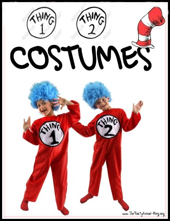 thing 1 and thing 2 costumes costume Pinterest Costumes - dr seuss halloween costume ideas