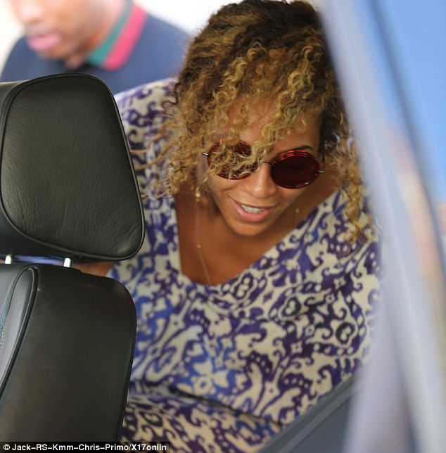 Fresh-faced: Beyonce is known for her clear, perfect skin