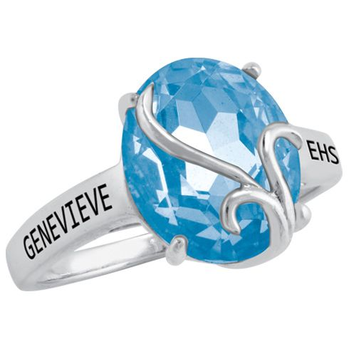 Afire class ring by ArtCarved for girls.