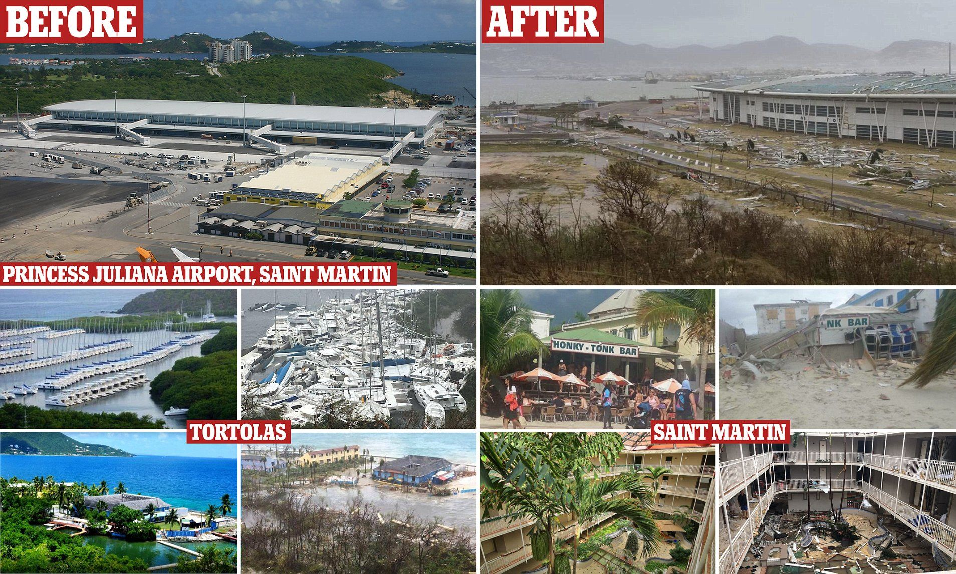 Stark Before And After Photos Show Irma S Destruction Caribbean Hurricane Destruction Natural Disasters