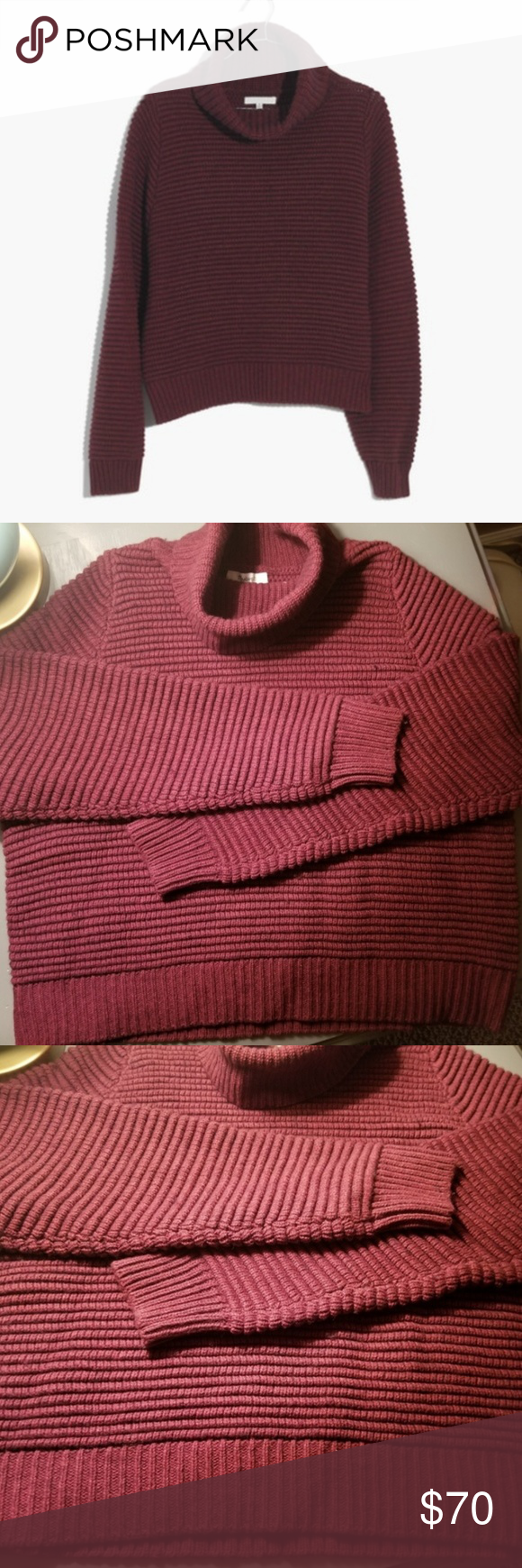 c5f3644758d NWT  Madewell Side-Button Turtleneck Sweater This cozy turtleneck sweater  is substantial enough