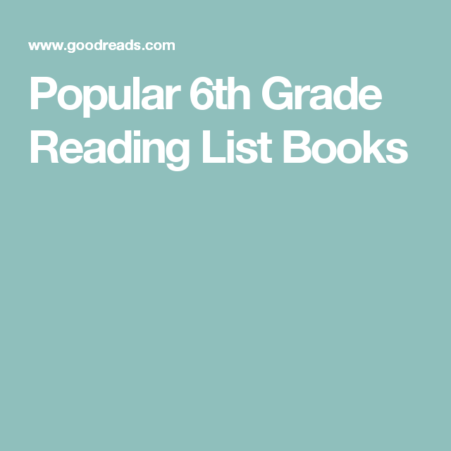 Popular 6th Grade Reading List Books Books Pinterest Reading