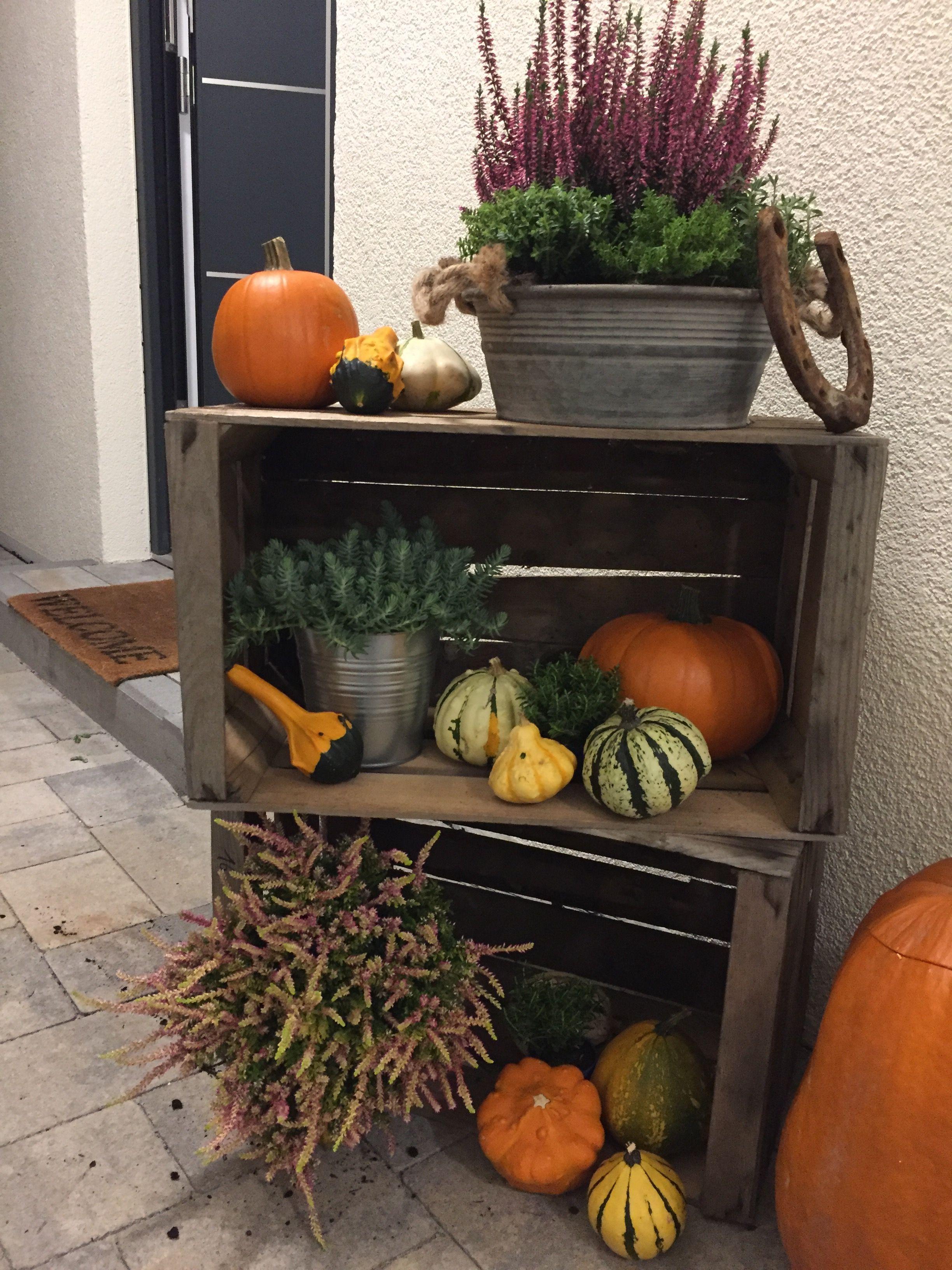 Herbst Dekoration Eingang #dekohauseingang