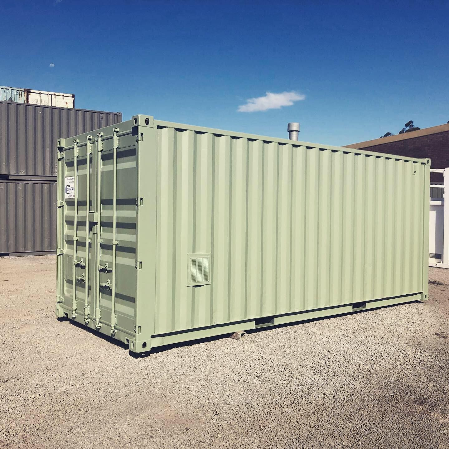 Pale Eucalypt Is A Hit Portable Buildings Refurbishing Shipping Container