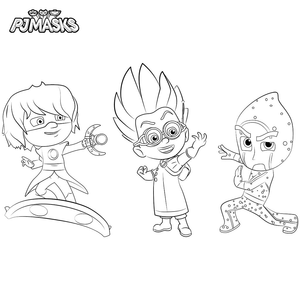 Night Ninja Luna Girl And Romeo Pj Masks Coloring Page