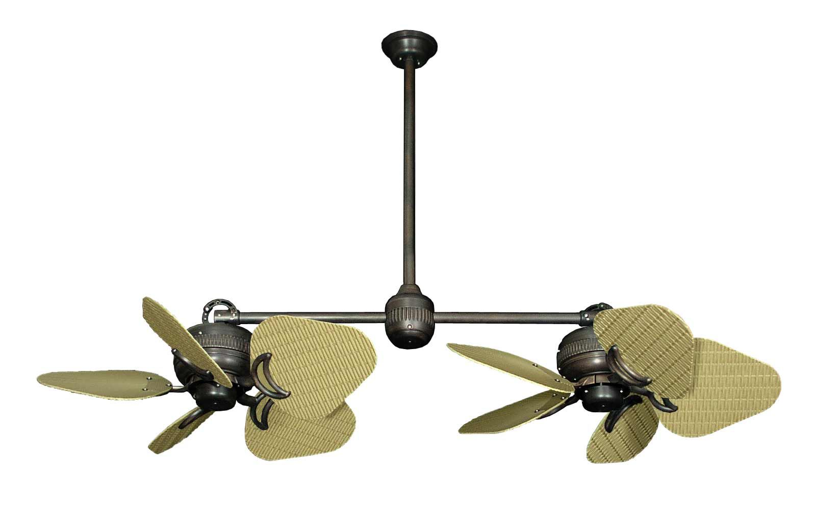 Double Blade Ceiling Fan An Eccentric Designed Fan For Cooling A Room Warisan Lighting Ceiling Fan Double Ceiling Fan Tropical Ceiling Fans
