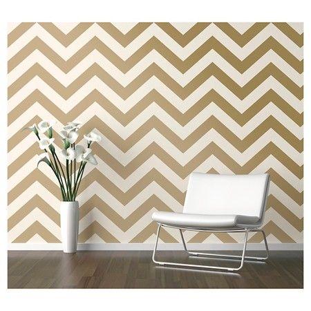 Devine Color Zig Zag Karat And Lightning Metallic Peel And Stick Wallpaper Gold Bedroom Decor Removable Wallpaper
