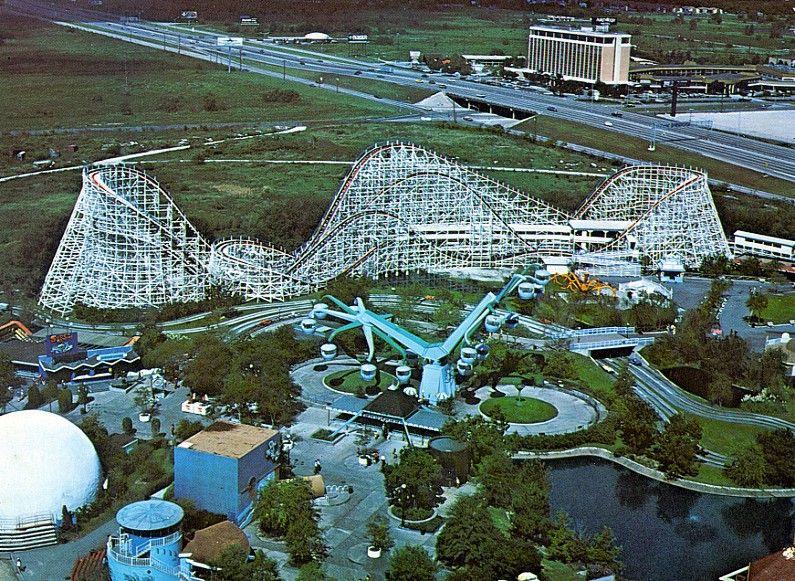 Texas Cyclone Roller Coaster Photos Six Flags Astroworld Houston History Historic Houston Amusement Park Rides