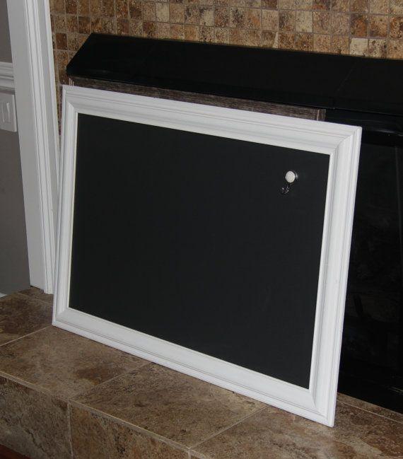 Extra-Large, Magnetic, Vintage, White, Framed Chalkboard Wedding ...