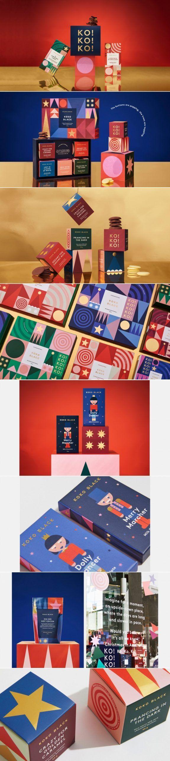 Koko Black Fivestar Branding Agency Christmas Packaging Design Christmas Graphic Design Branding Design