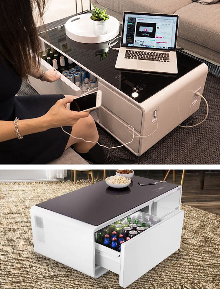 Smart Coffee Table Can Charge Your Phone and Doubles as a