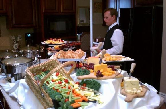 These food servers offer elegant catering services and catering