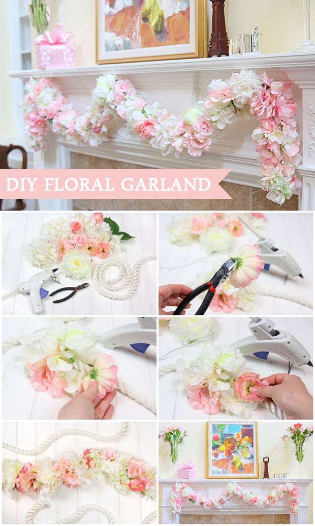 2 Beautiful Baby Shower Ideas Diy Floral Garland And A Savory