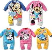 Infantil criança bebê dos desenhos animados Romper escalada roupas de bebê meninos meninas roupas de bebê de algodão confortável(China (Mainland))