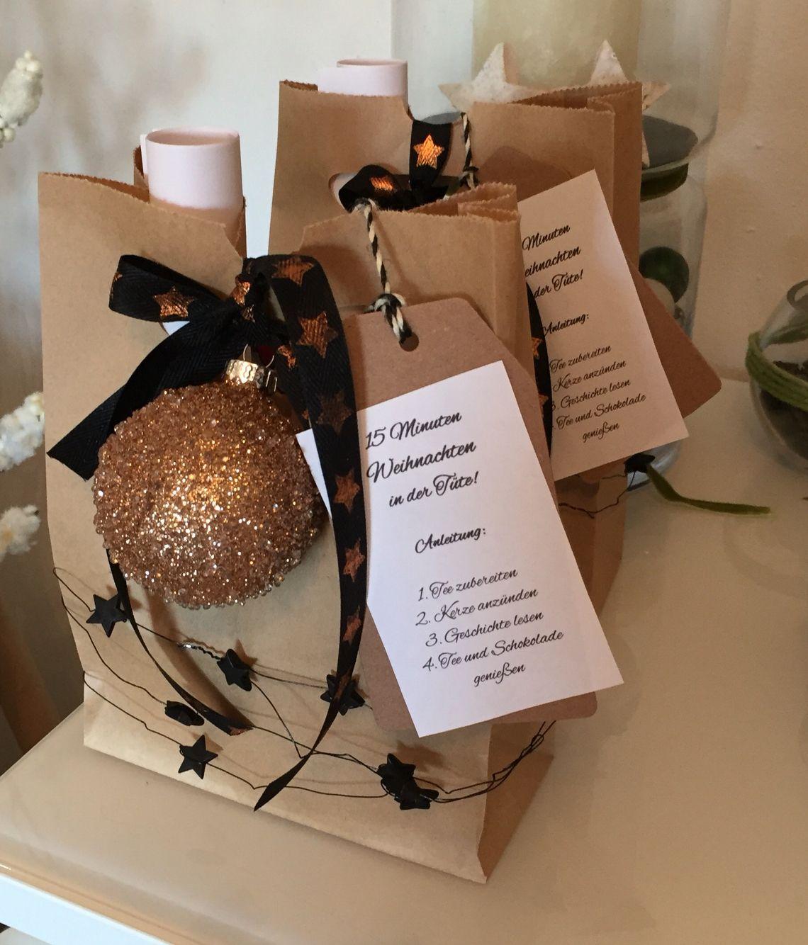 15 Minuten Weihnachten aus der Tüte / süße Kleinigkeit zum