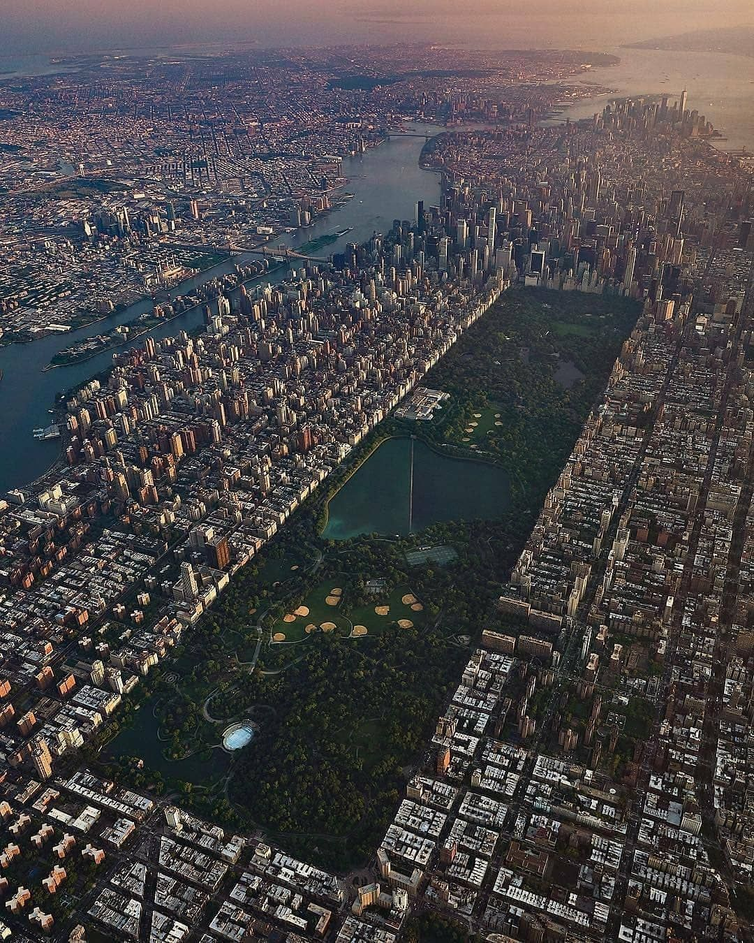 New York New York City New York Central City From Above