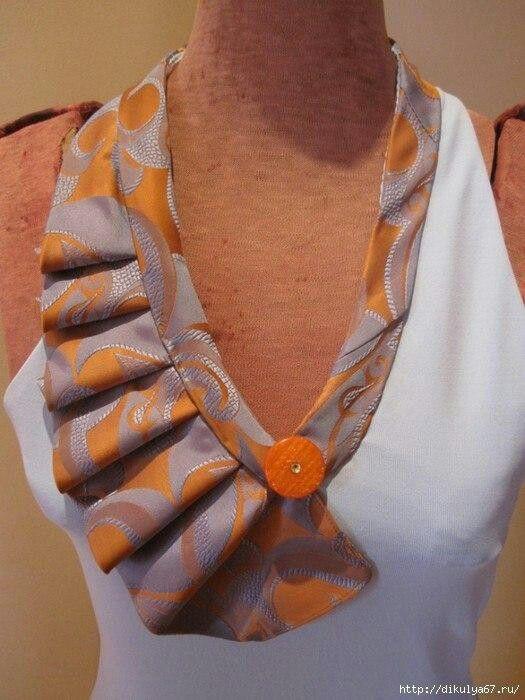 Женский воротник из галстука рукоделие Старые галстуки