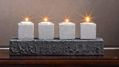 Faux Stone Candle Runner