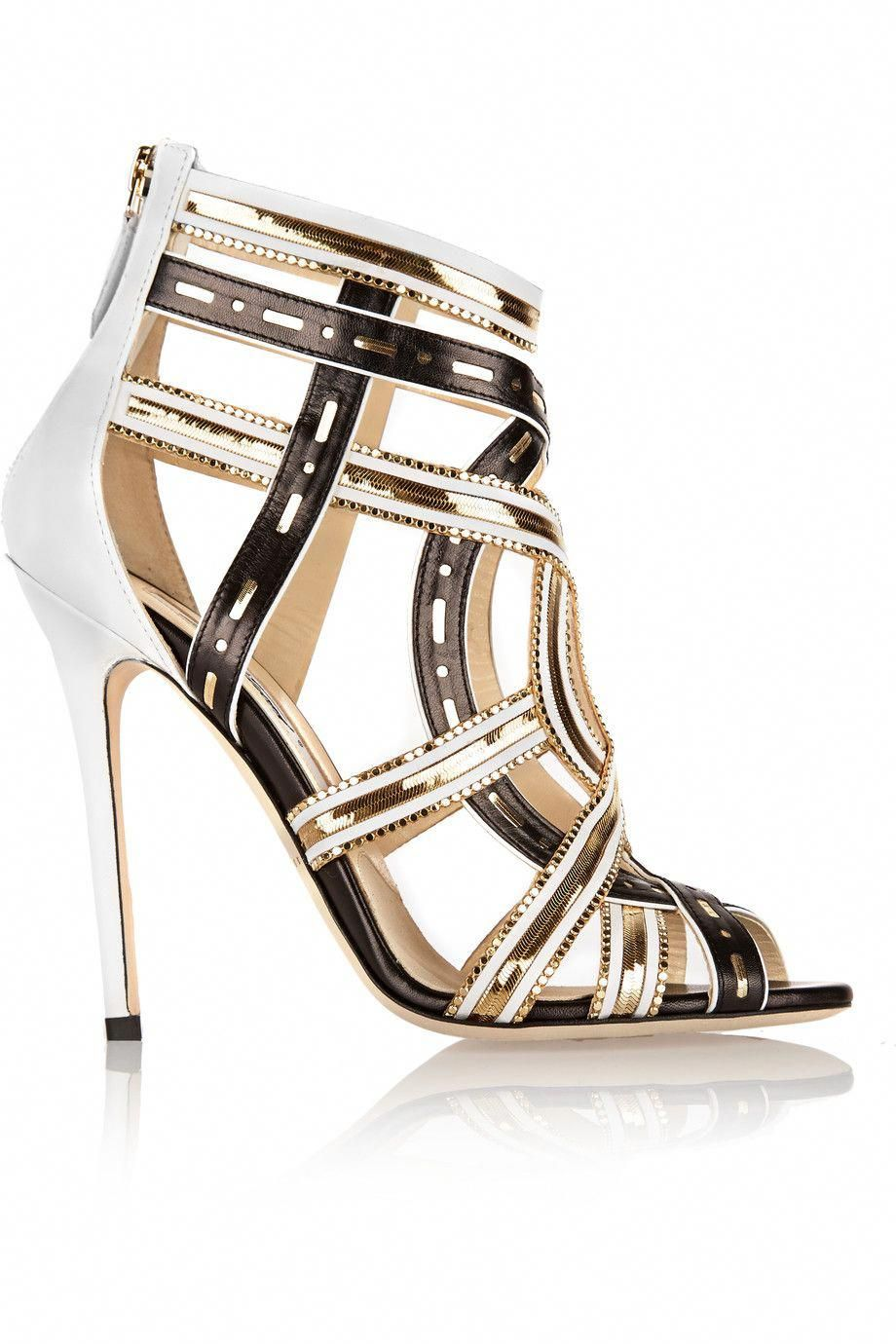 fe1481449d2 BRIAN ATWOOD Marva Chain-Embellished Leather Sandals.  brianatwood  shoes   sandals