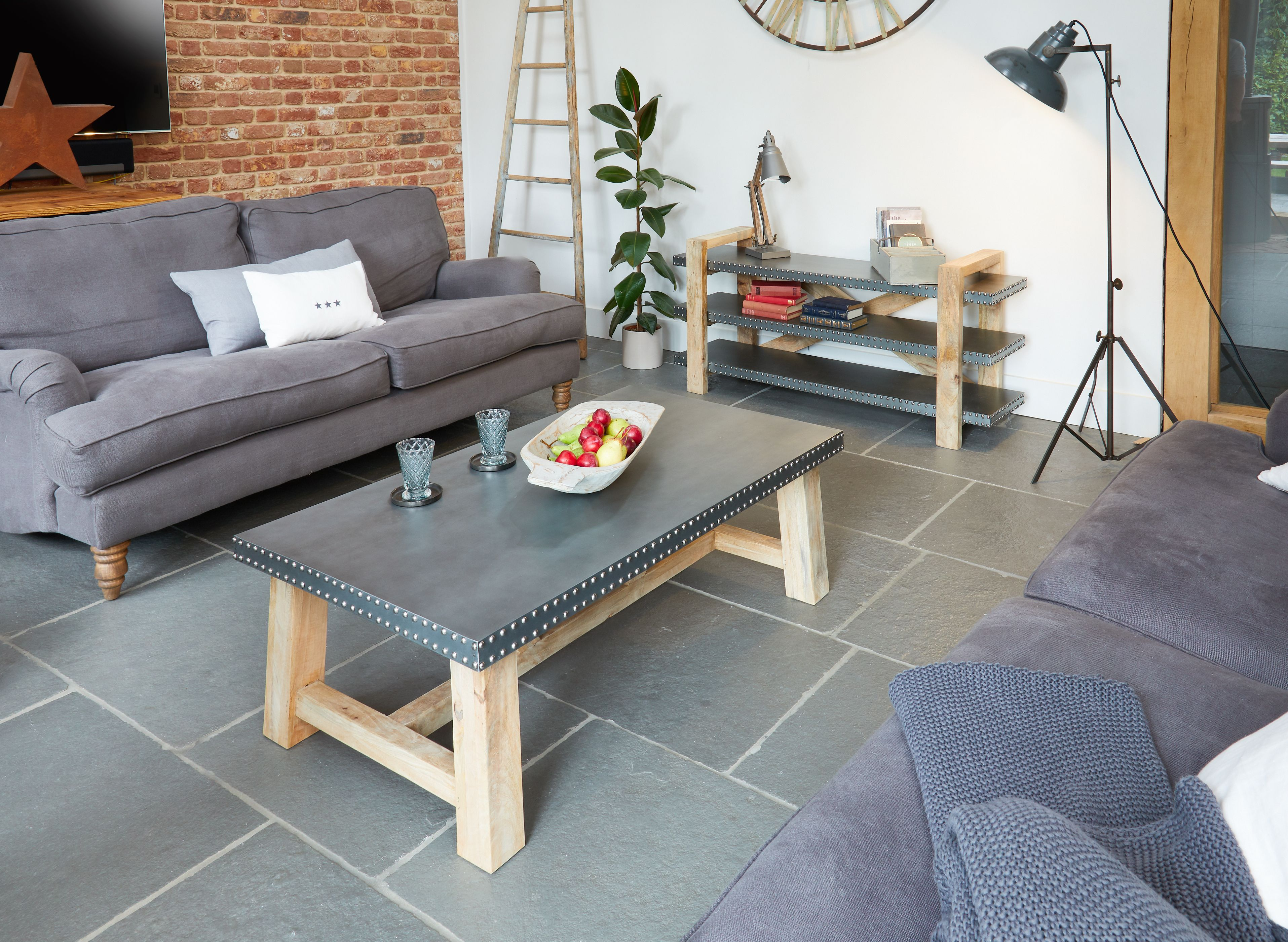 Kuba - Coffee Table   SOLID WOOD INDUSTRIAL CHIC FURNITURE WITH A ...