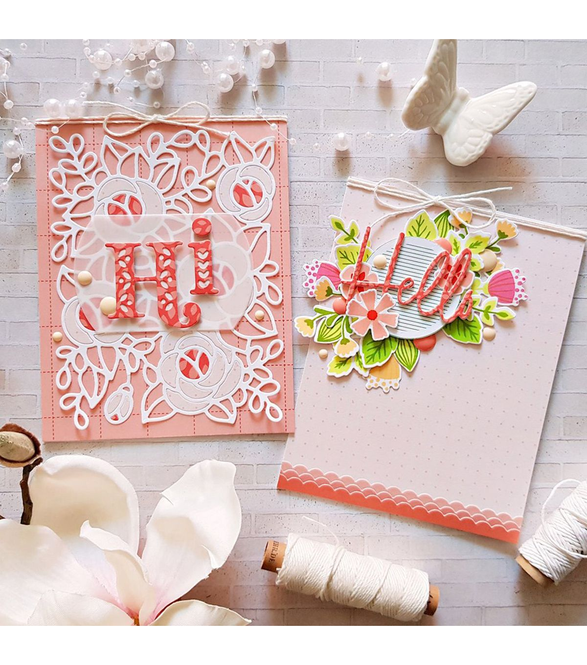 Pinkfresh Studio Die Kelly Alpha Lower Case Joann Inspirational Cards Paper Craft Projects Shaped Cards