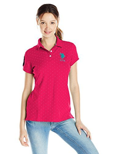 Polo Assn U.S Womens Classic Stretch Pique Polo Shirt Polo Shirt