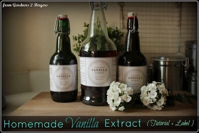 Homemade Vanilla Extract {w/ Free Label}