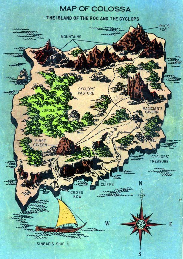 Voyages Of Sinbad Map Peplum The 7th Voyage Of Sinbad Comix