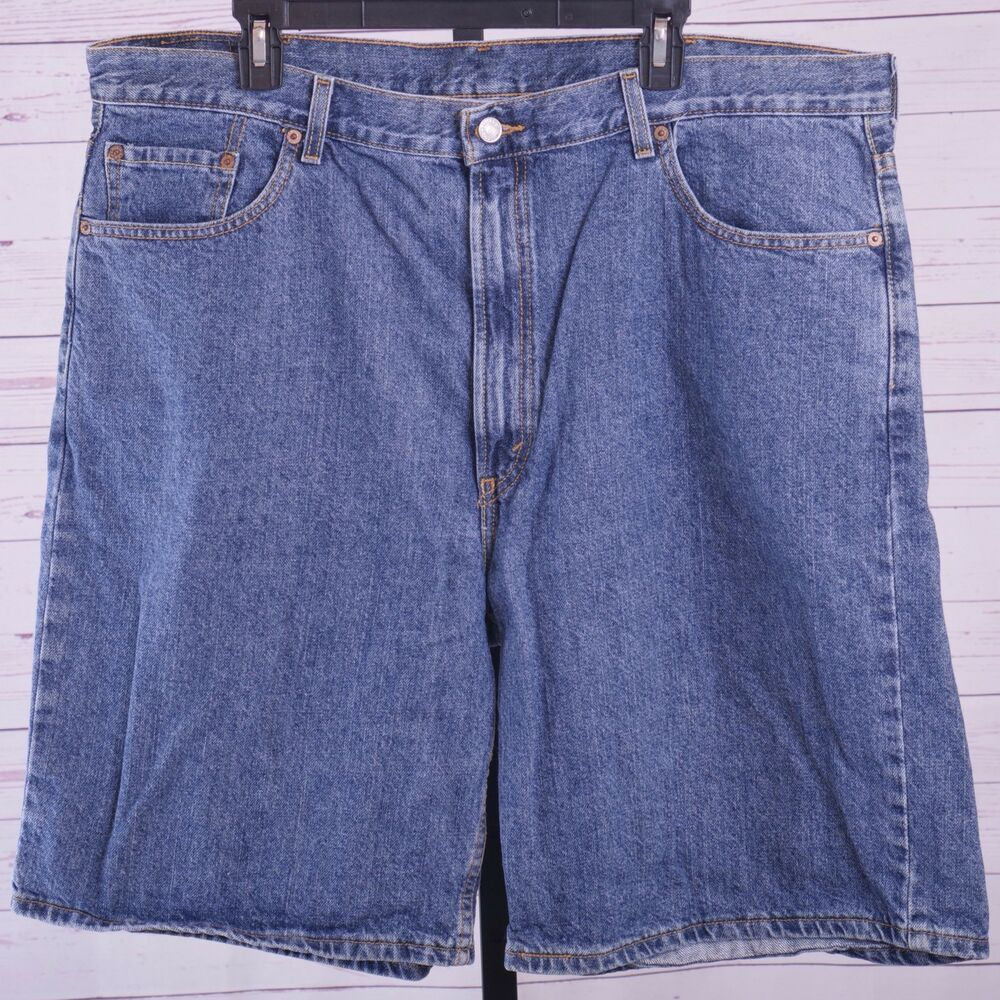 2ce4c1a4 Levi's 550 Relaxed Fit Jean Shorts Medium Wash Men's Size 42 #fashion  #clothing #shoes #accessories #mensclothing #shorts (ebay link)