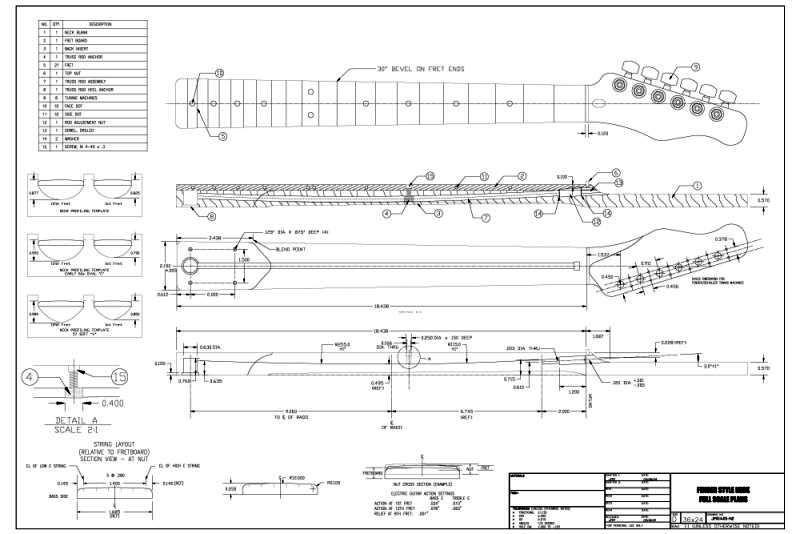 Full Scale Tele-Style Plans   Telecaster Guitar Forum   teleplan ...