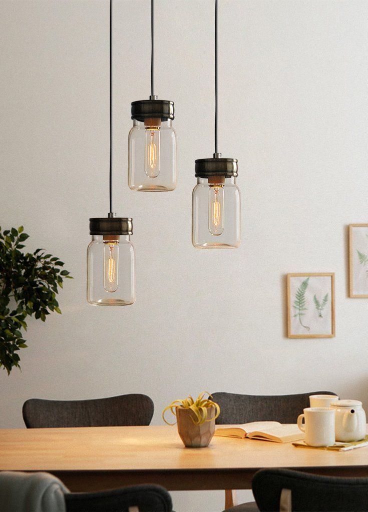 Vintage retro mason glass jar pendant lights with grey fabric cord vintage retro mason glass jar pendant lights with grey fabric cord aloadofball Images