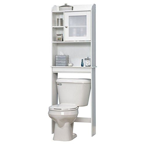 cheap caraway w x over the toilet cabinet space saving cabinet fits over toilet has adjustable shelf soft white finish made in the usa 5 years