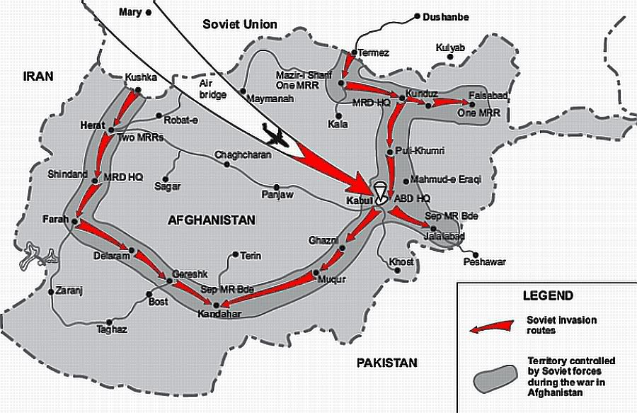 Soviet invasion map-Afghanistan | Military tech and History I like ...
