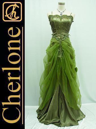 e107cec9a5 Cherlone-Satin-Dark-Green-Lace-Sparkle-Ball-Gown-Wedding-Evening-Dress-UK -16-18