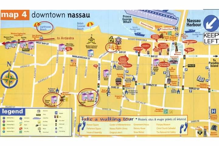 printable map of nassau bahamas Map Of Popular Areas In Nassau Bahamas Map Nassau Bahamas printable map of nassau bahamas
