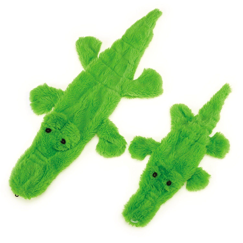 Zanies Predator Unstuffies Dog Toys Small Alligator 15 5 Learn