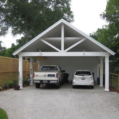 Carport with storage carport pinterest for Geschlossener carport