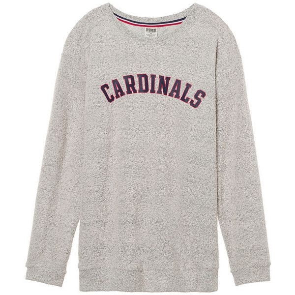 PINK St. Louis Cardinals Stadium Campus Crew ( 63) ❤ liked on Polyvore  featuring tops 749abe2ab