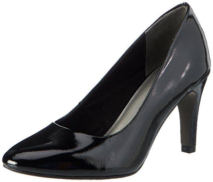 Womens 22465 Closed Toe Heels, Black, 3 UK Tamaris