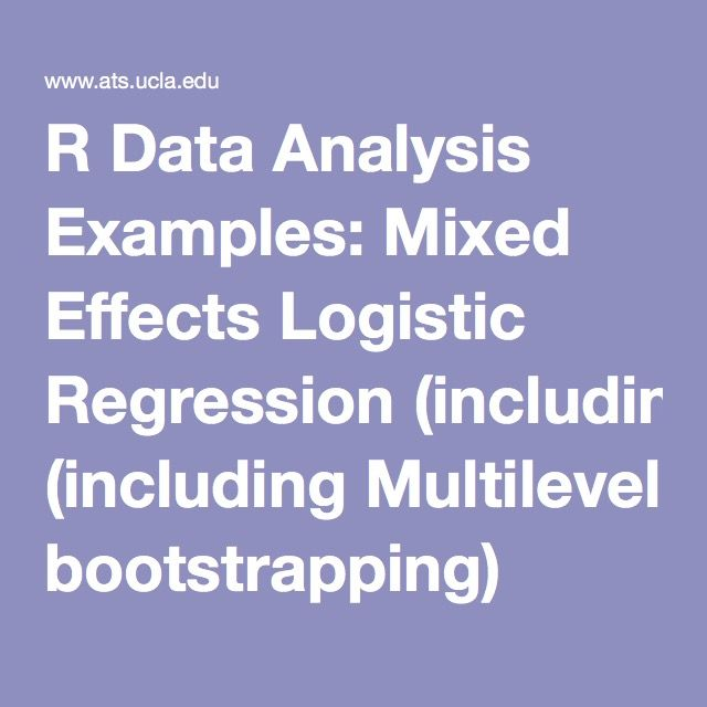 R Data Analysis Examples: Mixed Effects Logistic Regression