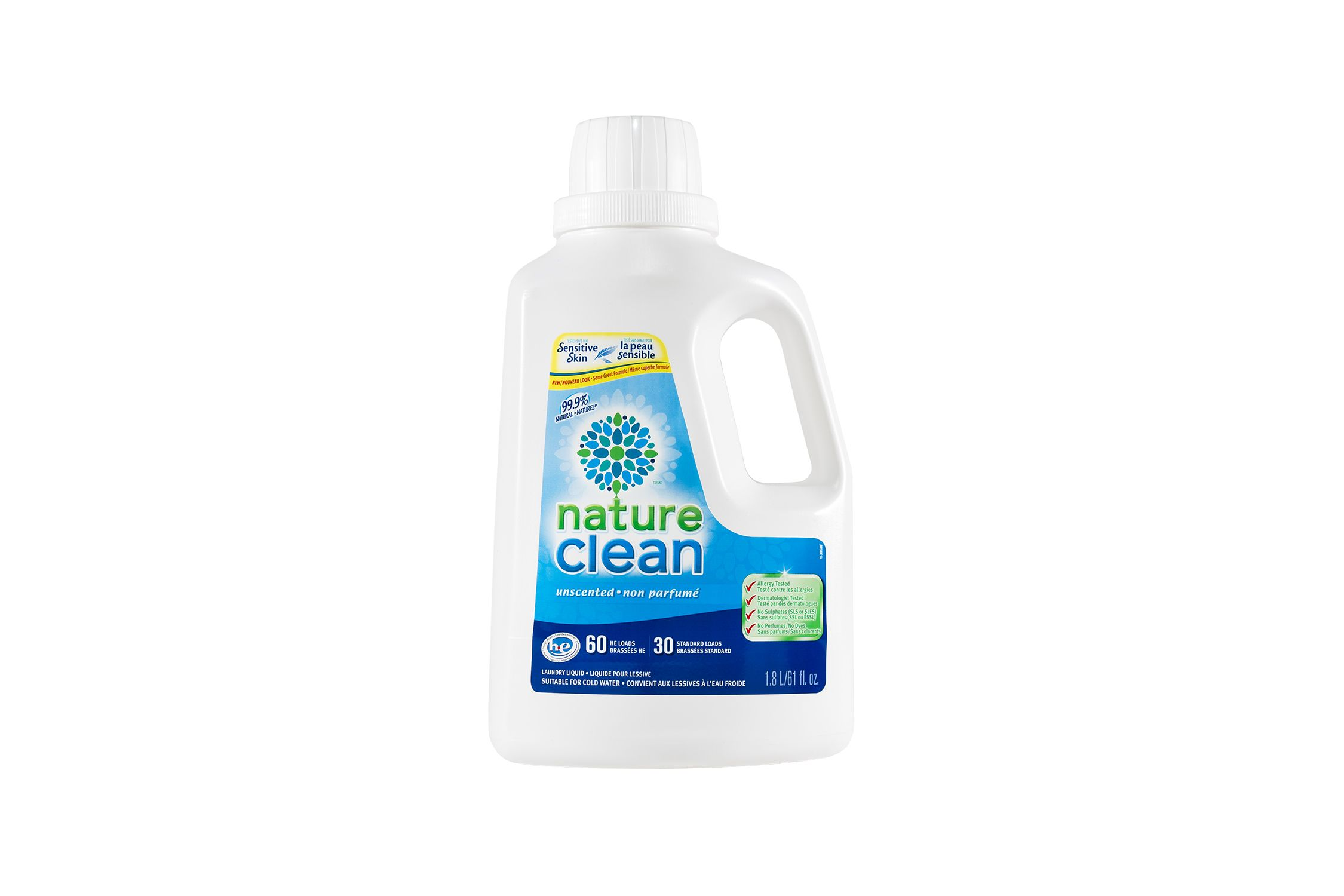 99 9 Natural Hypoallergenic Unscented Laundry Liquid 1 8l