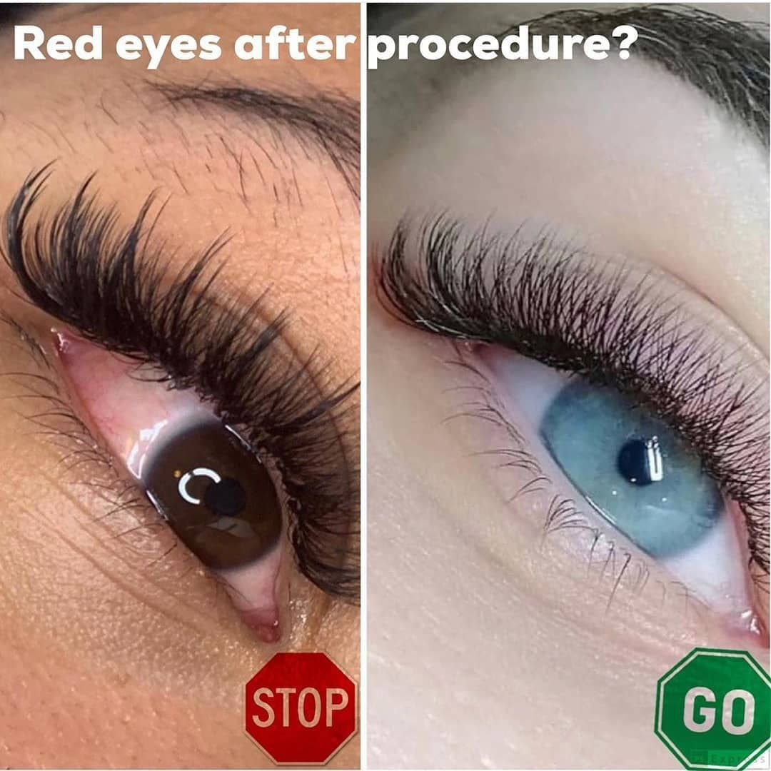 Do your clients often have red eyes after the lash