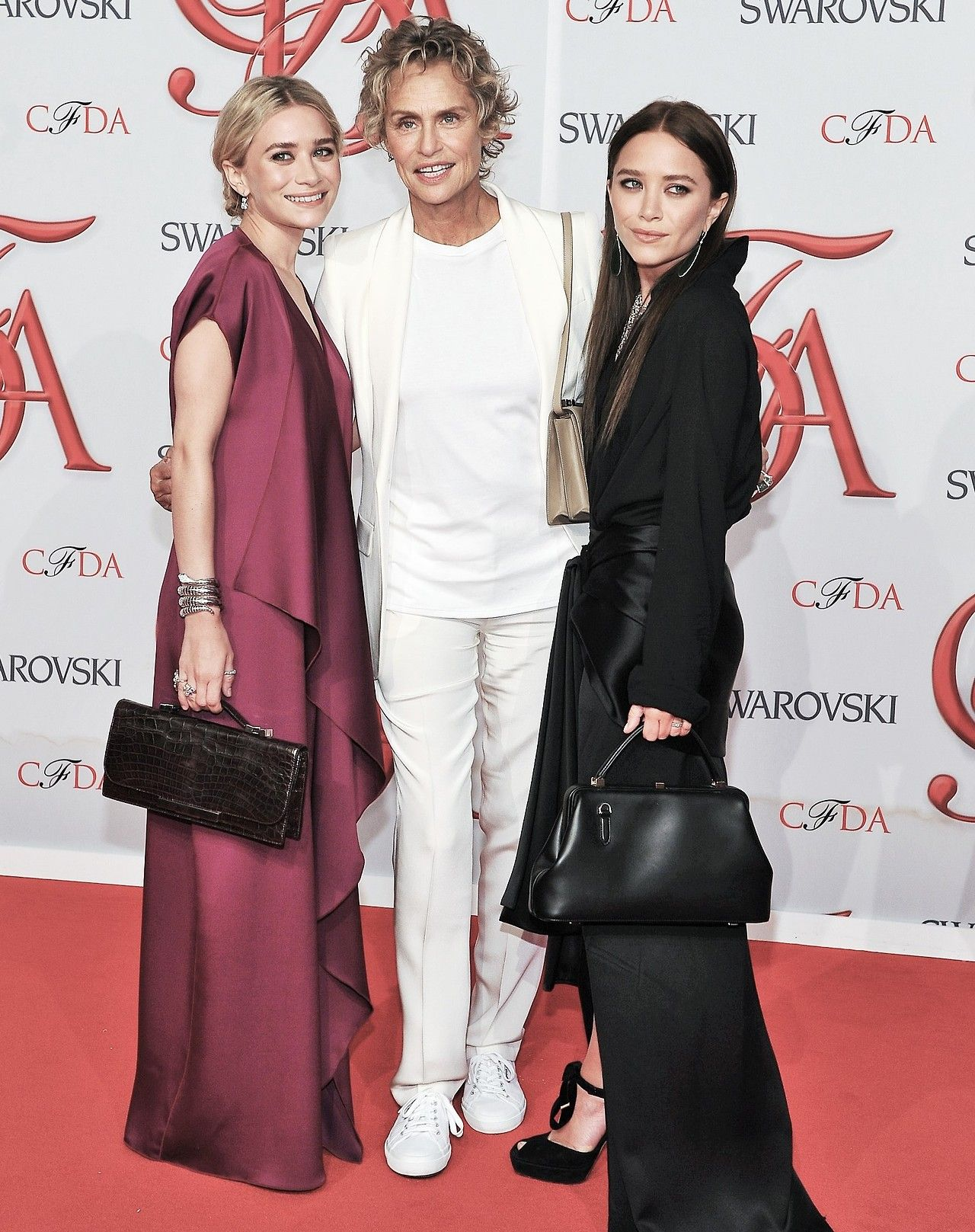 W/ Lauren Hutton at the CFDA awards in 2012, all three in The Row