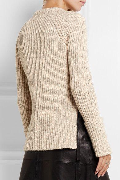 Laine mélangée écrue  S'enfile simplement  80 % laine, 20 % polyamide  Lavage à…