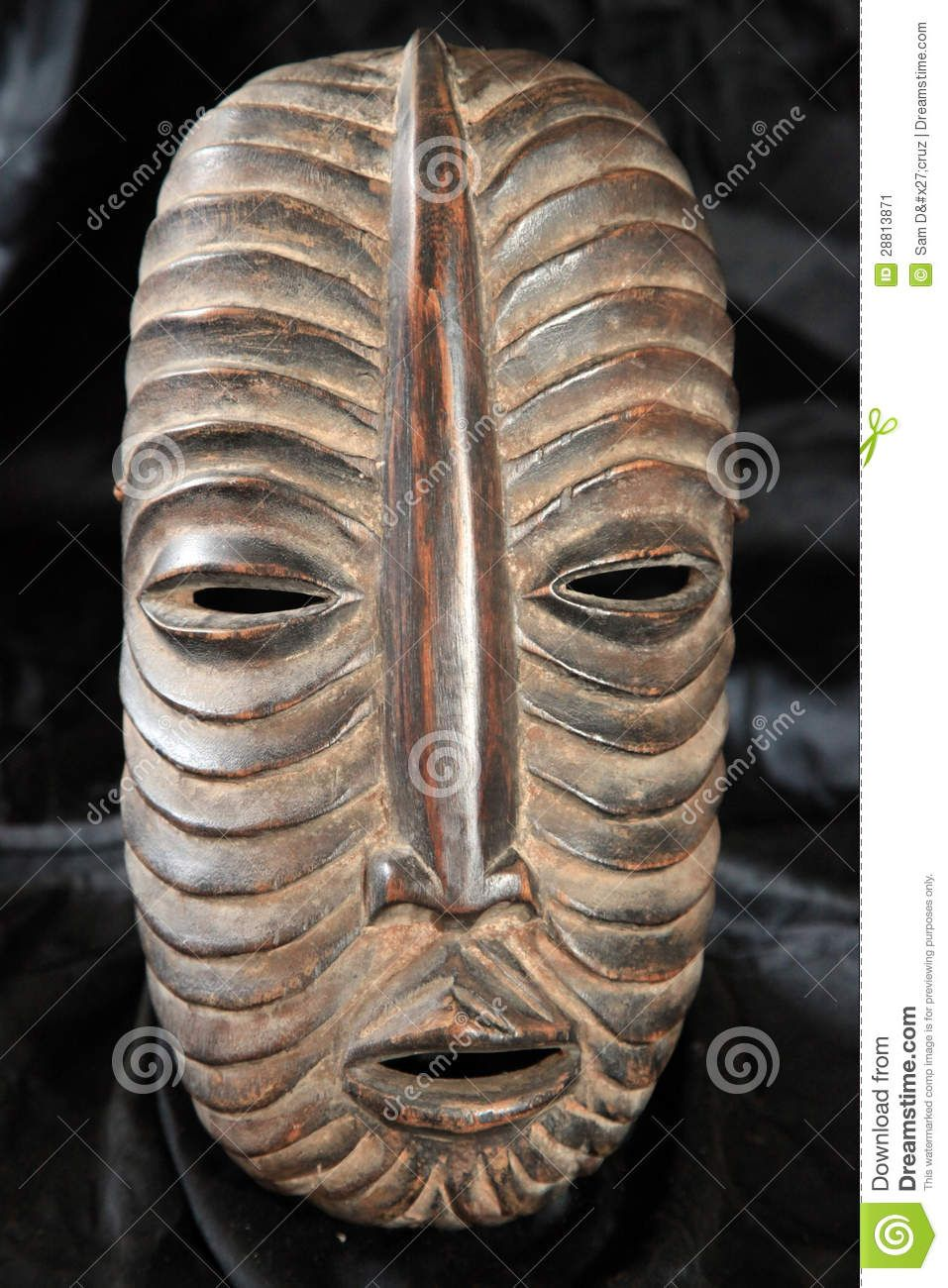 african tribal masks -Luba Tribe