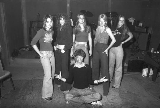 The Runaways with Kim Fowley in 1975