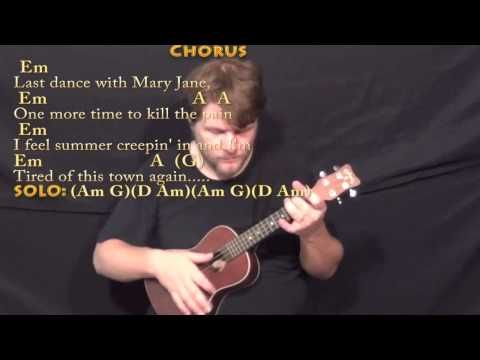 Mary Jane\'s Last Dance (Tom Petty) Ukulele Cover Lesson with Chords ...